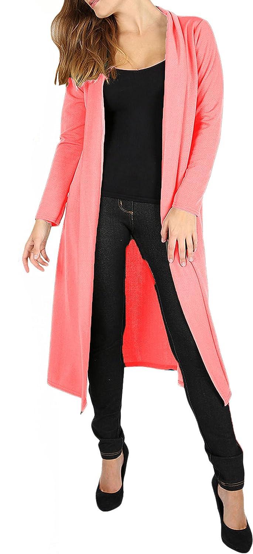 AHR/®New Womens Ladies Long Sleevees Maxi Boyfriend Cardigan Open Floaty 8-26