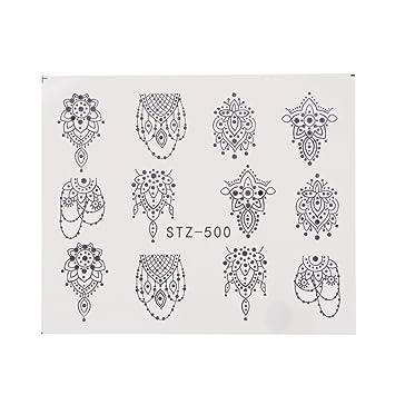 Nägel Aufkleber Blumen Wasser Transfer Sticker Dekoration