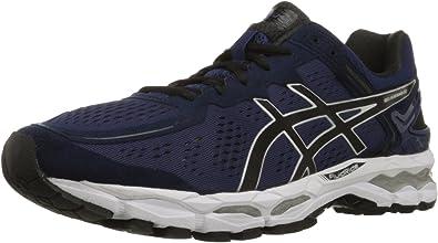 Asics GEL-Kayano 22 - Zapatillas de correr para hombre, (Mediterráneo/negro/plata), 43 EU: Amazon.es: Zapatos y complementos