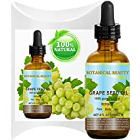 GRAPE SEED Oil. 100% Pure / Natural / Undiluted Cold Pressed Carrier Oil for Skin...