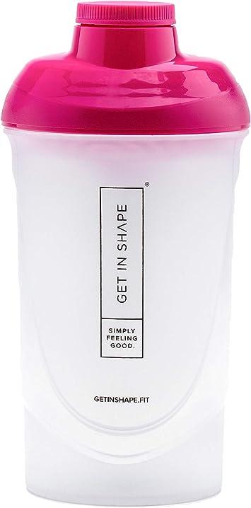 Shaker Bottle para Slim Shake o Mezclador de proteínas con colador - 600 ml – Shaker Bottle de Get in Shape