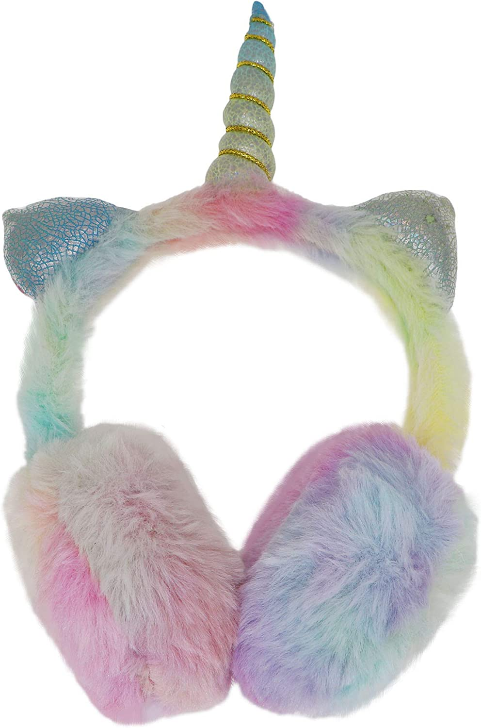 Celebration Fish Colourful Ocean Winter Earmuffs Ear Warmers Faux Fur Foldable Plush Outdoor Gift