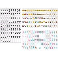 Emsmil 255 Emojis Símbolos Simbolos Letras y Números para Caja de Mensaje LED A4 LightBox Caja de luz Cinemática