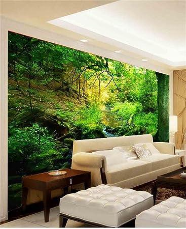 Chlwx 3d Tapete 200cmX150cm (78.7inX55.327in) 3D Fototapete Wohnzimmer  Wandbild Aufkleber Urwald