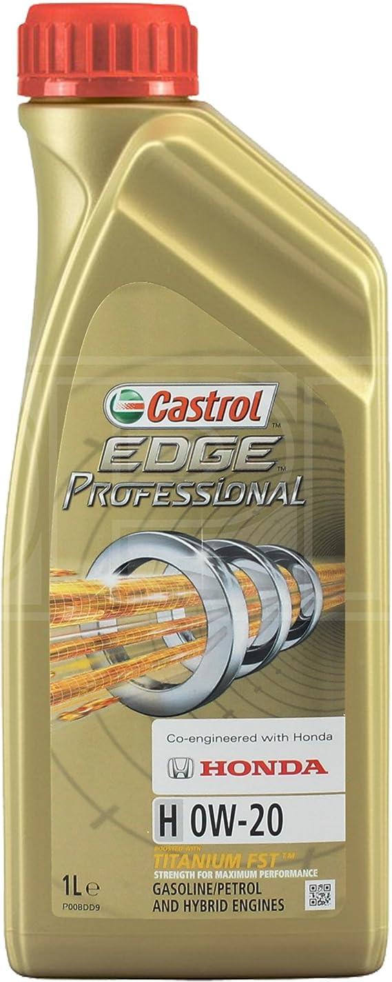 Castrol Edge Professional H 0w 20 Honda Synthetic Engine Oil 1 Litre Auto