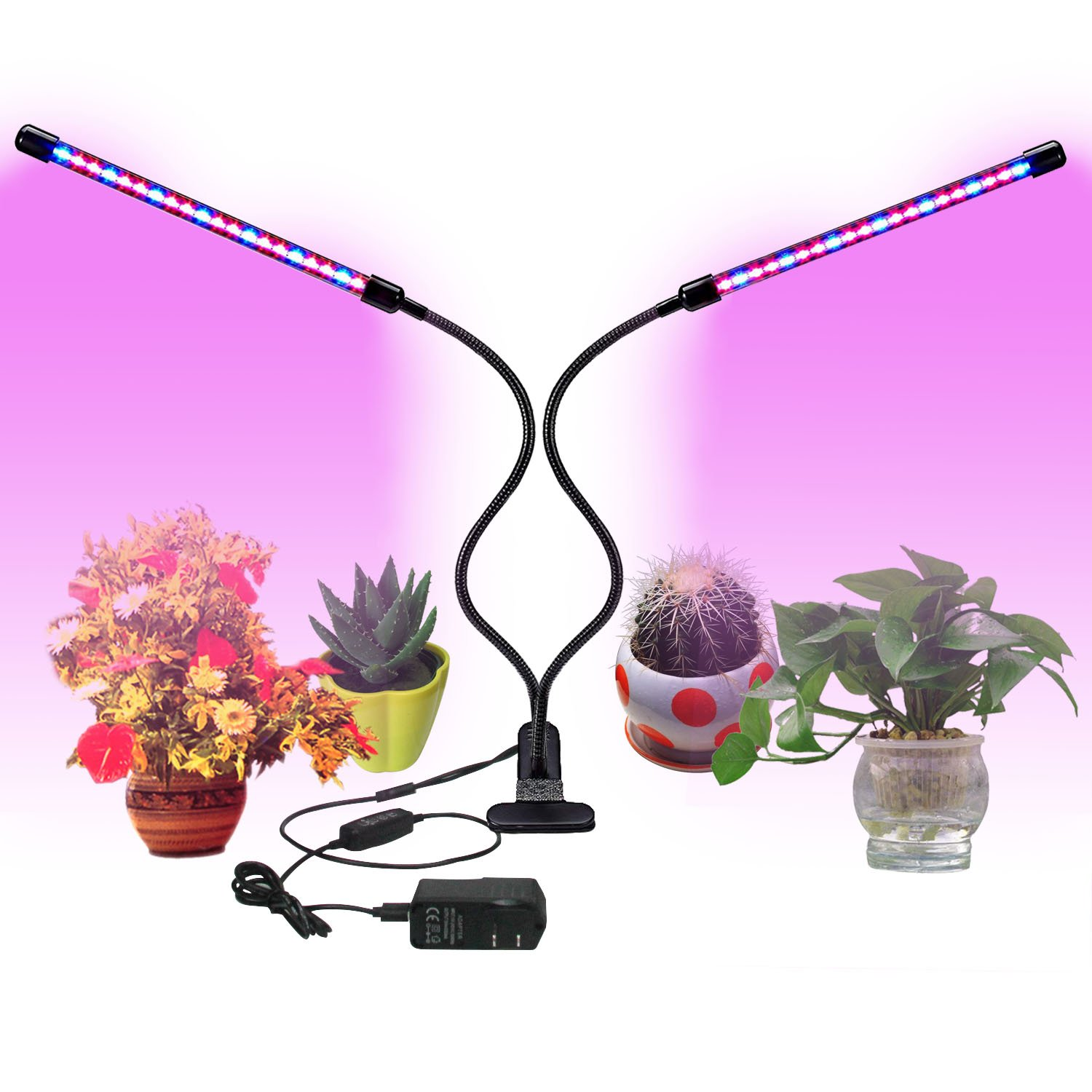 USB Grow Light,20W LED Grow Light for Indoor Plants,JEKOMI [2018 Upgraded Version]Plant Grow Lamp with 40 LED 9 Dimmable Levels,Red/Blue Spectrum, 3/9/12H Timer,3 Switch Modes