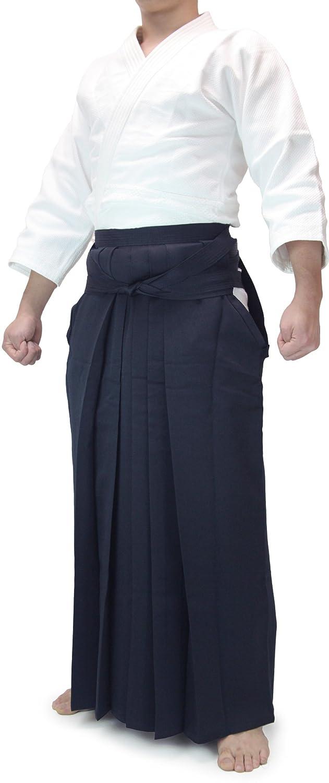 【京都西陣仕立】最高級ポリエステル合気道袴 紺 25.5号