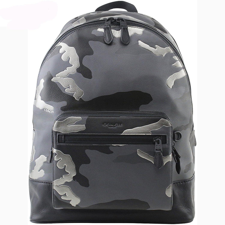 コーチ メンズ バッグ アウトレット グレーマルチ カモフラージュ レザー リュック バックパック COACH Charles West Backpack Camo Grey Leather [並行輸入品] B07DCWL2G7