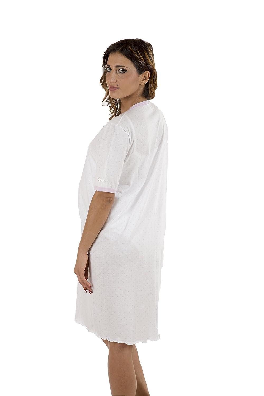 pre-Post-Parto Camisa Clinica para Maternidad Premamy Jersey algod/ón Modelo de Frente Abierto