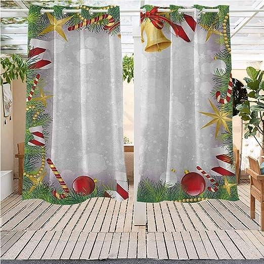Cortinas de Exterior Gazebo Paneles de Ventana para decoración de Navidad Ondulado Bolas de Navidad en pérgola Interior Exterior Impermeable Multicolor: Amazon.es: Jardín