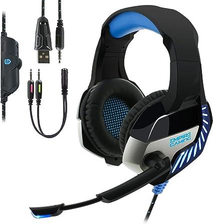 EMPIRE GAMING - Auriculares Gaming H1200 para PC, MAC, Auriculares ...
