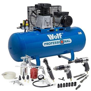 Wolf Dakota - Compresor de aire (150 L, 3 HP, 14 CFM,