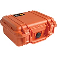 Pelican 1200 Case with Foam for Camera (Orange)