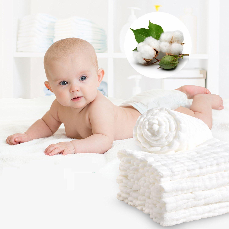 30x30 100/% Muslin Cotton Baby Bath Towel Baby Blue
