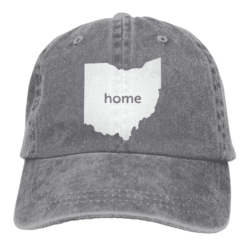XZFQW Home in Ohio State Trend Printing Cowboy Hat Fashion Baseball Cap for Men and Women Black