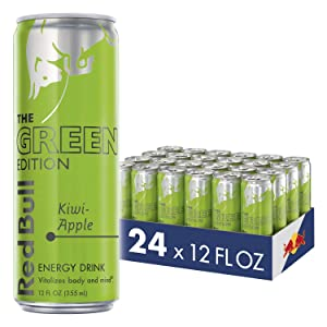 Red Bull Energy Drink, Kiwi Apple, 12 Fl Oz (24 Count), Green Edition