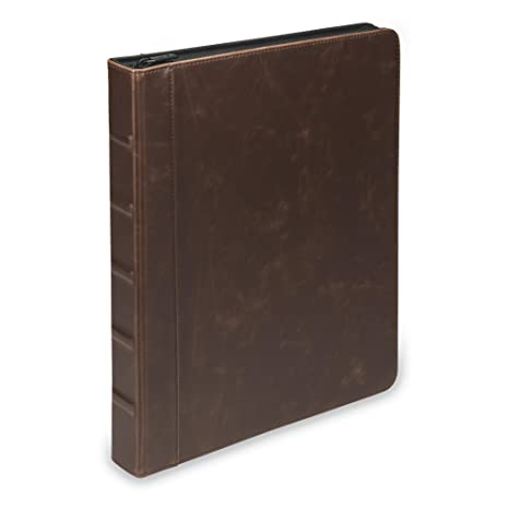 amazon com vintage hardback book style round ring binder
