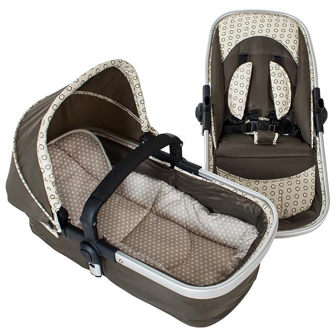 TecTake 3 en 1 Sillas de paseo coches carritos para bebes convertible - disponible en diferentes colores - (Marrón | no. 401070)