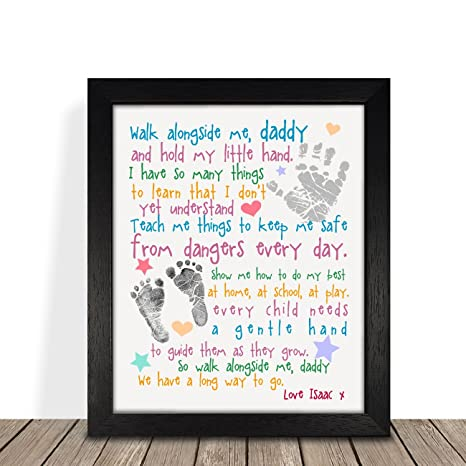 Grandad Dad Daddy PERSONALISED with ANY RECIPIENT and ANY NAME OR MESSAGE Personalised Fathers Day Gifts From Daughter Black or White 8 x 8 FRAMED or Print Only Available First Fathers Day Gifts Baby Girl