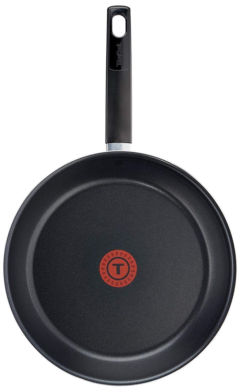 Tefal First Cook - Set de sartenes Negro Gas, Aluminio, Negro, 18/22/26 cm, Revestimiento antiadherente, cocina sana, mejor difusión del calor. ...