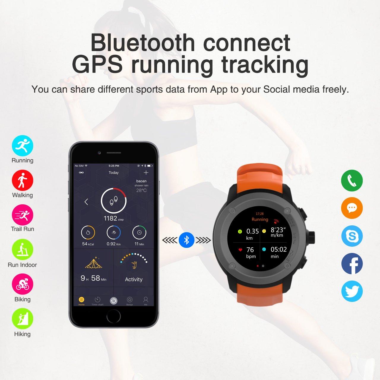 Amazon.com: GPS Running Watch HR Smart Outdoor Sport Watch ...