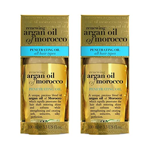 Organix Renewing Moroccan Argan Penetrating Oil, 3.3 Fl Oz (Set of 2)