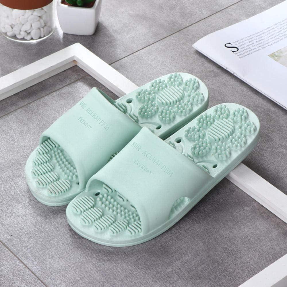 NEWELLYY Espumas Suaves de Mula de la casa, Zapatillas de baño de Ducha, Sandalias de Masaje Antideslizantes con goteras Verdes_36-37, Zapatos de Piscina de Playa: Amazon.es: Deportes y aire libre