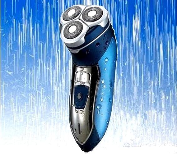 Pritech - Afeitadora eléctrica impermeable (recargable, 3 ...