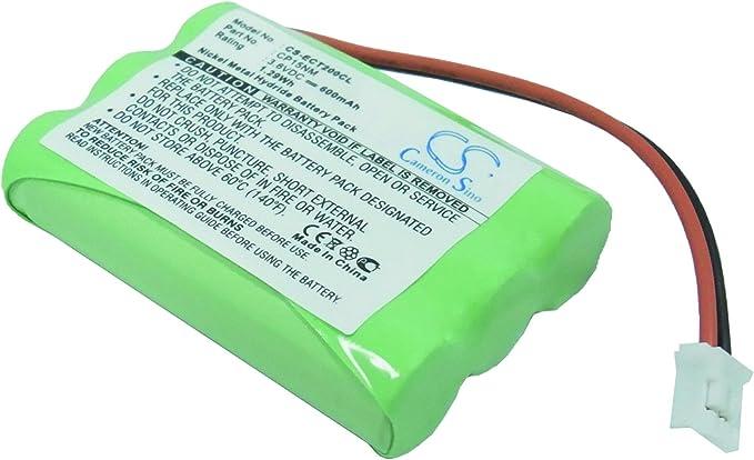 Teléfono inalámbrico batería de Ni-MH 600 mAh 3,6 V para Alcatel, Ericsson, GP, Uniross: Amazon.es: Electrónica