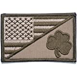 Shamrock USA Flag 2.25 x 3.5 inch Morale Patch - Coyote Brown