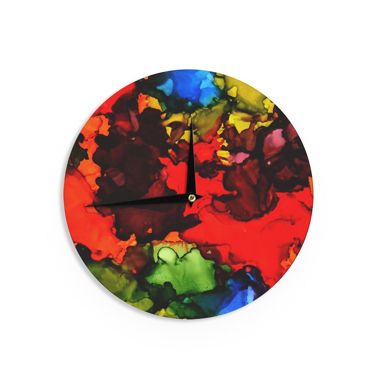 Kess InHouse Claire Day Beach Bum Wall Clock 12 Diameter