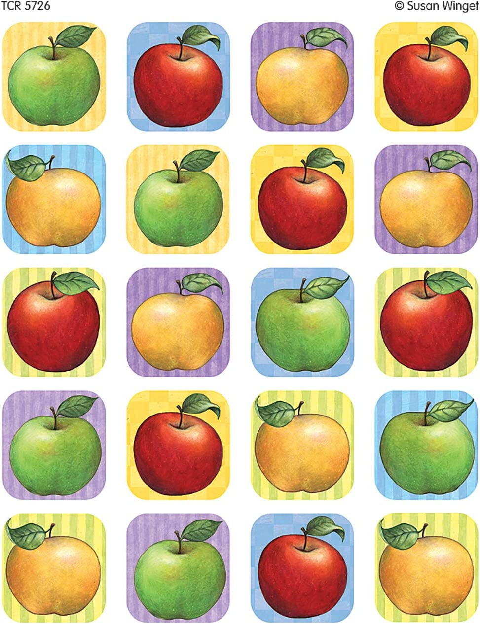 Teacher Created Resources Apple Stickers from Susan Winget, Multi Color (5726)