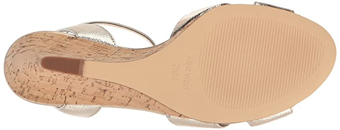 acddc63012 Amazon.com | Nine West Women's Kami Metallic Wedge Sandal | Platforms &  Wedges