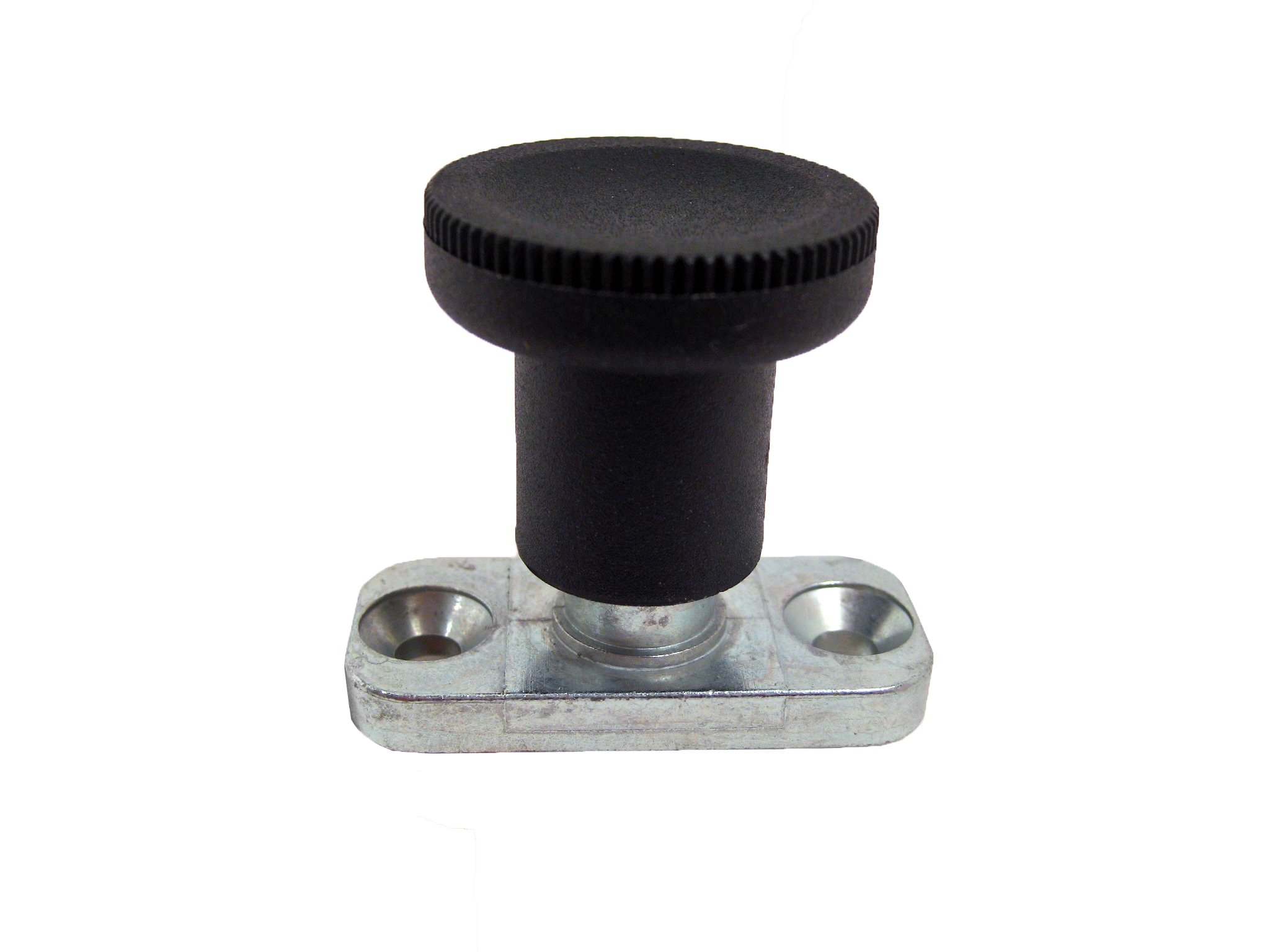 GN 608.1 Series Steel Lock-Out Type Plate Mount Indexing Plunger, 10mm Hub Diameter, 37mm Overall Length