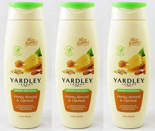 Yardley of London Creamy Body Wash Honey Almond - 3PC