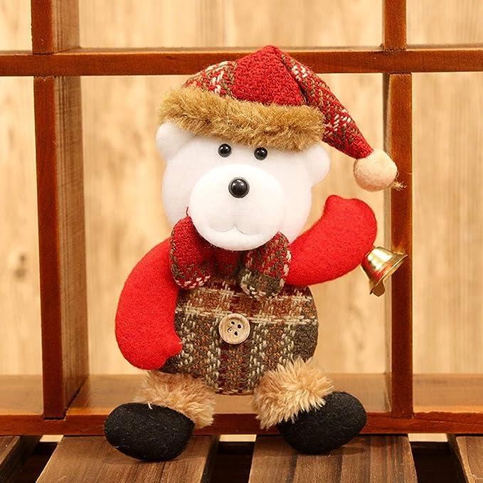 Etiqueta de la pared de BaZhaHei, Adornos navideños regalo Santa Claus muñeco de nieve muñeco de reno juguete colgar decoraciones de Navidad mini colgante ...