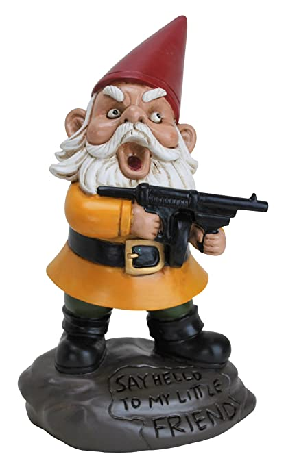 Amazon.com : BigMouth Inc Angry Little Gnome, Angry Gnome Statue, 9.5  Inches Tall, Weatherproof Garden Decoration : Outdoor Statues : Garden U0026  Outdoor