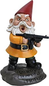 BigMouth Inc Angry Little Gnome, Angry Gnome Statue, 9.5 Inches Tall, Weatherproof Garden Decoration