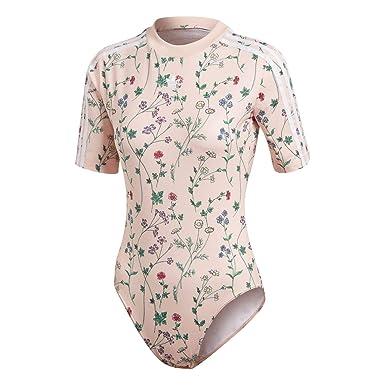 9eeeaba25af adidas Originals Women Love Set Pink Floral Bodysuit Body All-in-One ...
