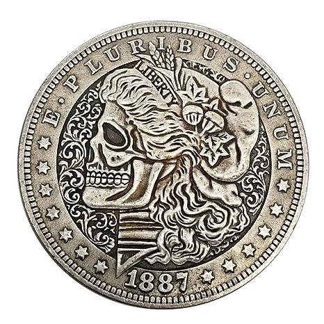 1897 Skeleton Eagle Silver Dollar Retro Memorial Coin Skeleton Coin U.S