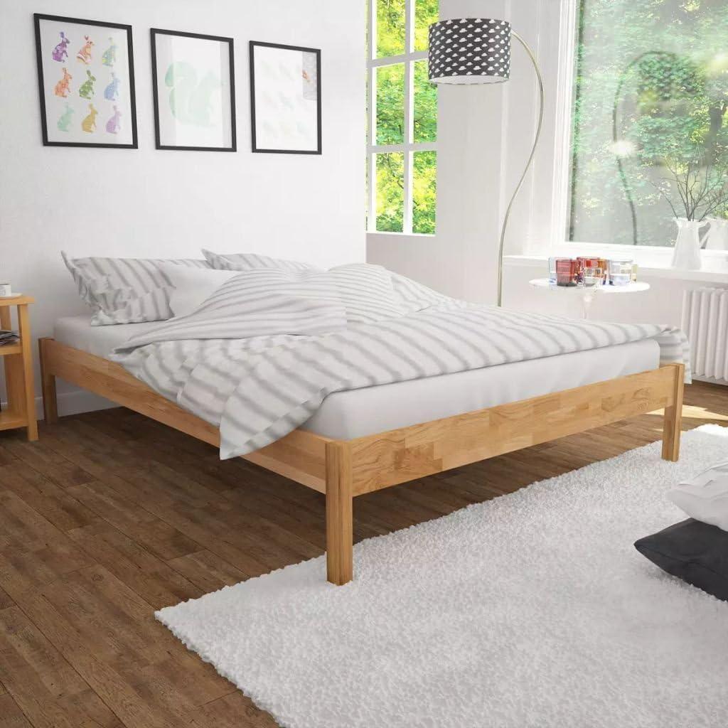 """Bedroom Furniture Queen Twin Bed Frame Solid Oak 1111.11""""x11.11"""
