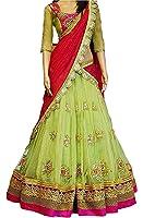 Sanjana Collection Women'S Faux Georgette Lehenga Saree Lehenga Choli (Sc _Perot_Perot_Free Size)