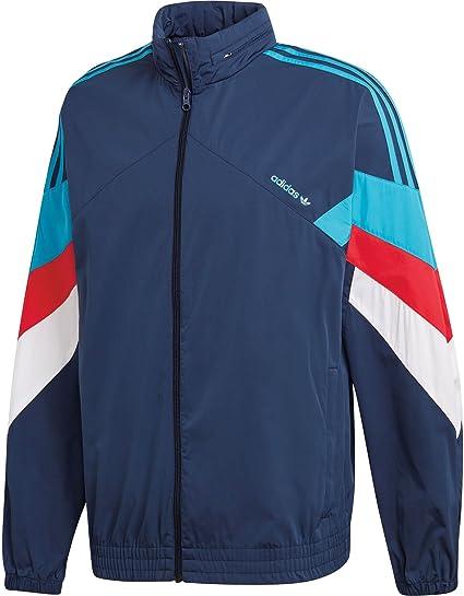 giacca a vento adidas rosso blu bianco