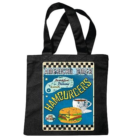 Bolsillo Bolso Bolsa Cheeseburger Hamburguesa American Diner ...