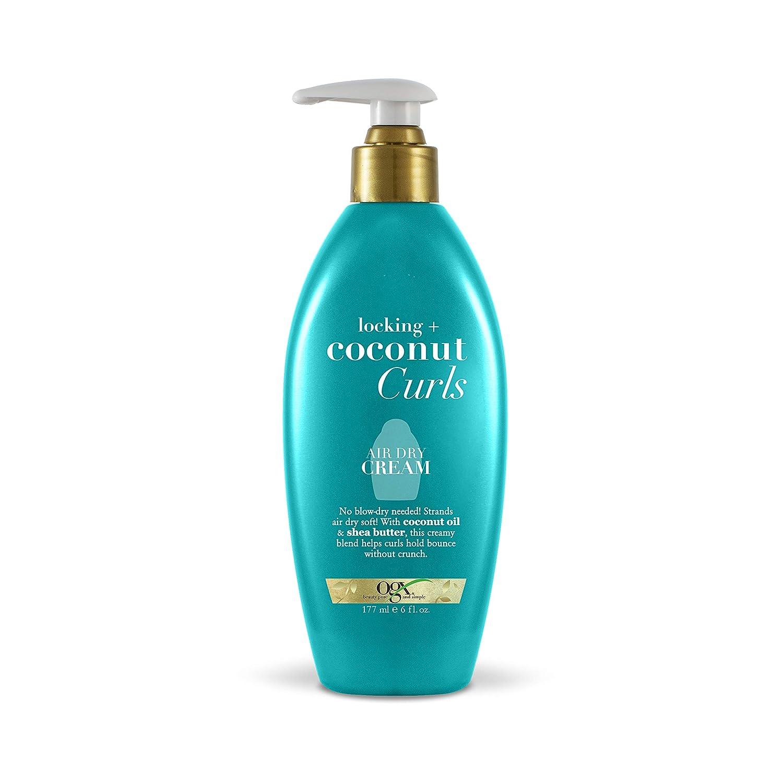 OGX Locking + Coconut Curls Air Dry Cream, 6 Ounce : Beauty