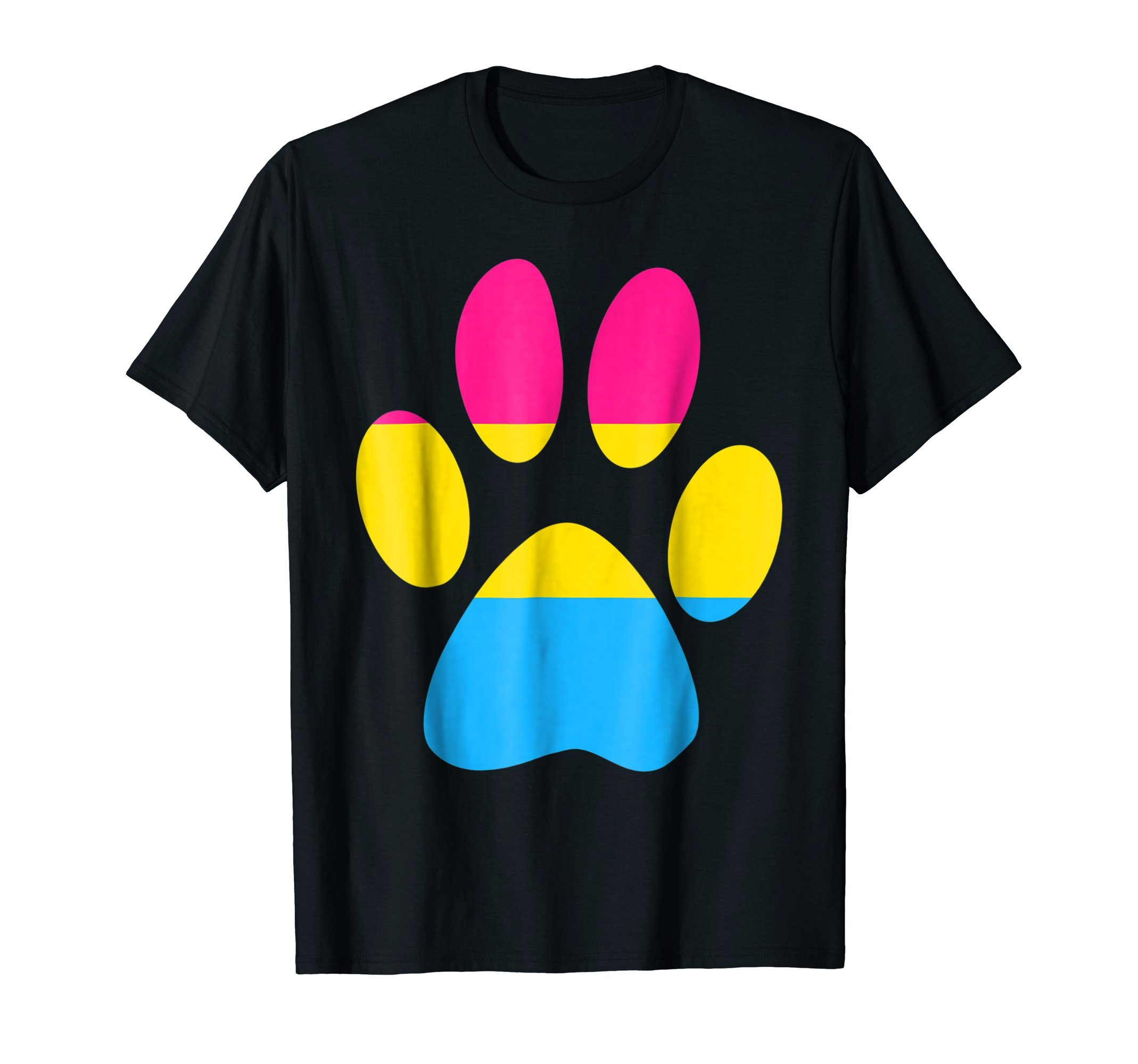 Pansexual Pet Paw Print Pan Pride Flag Animal Lover Shirt