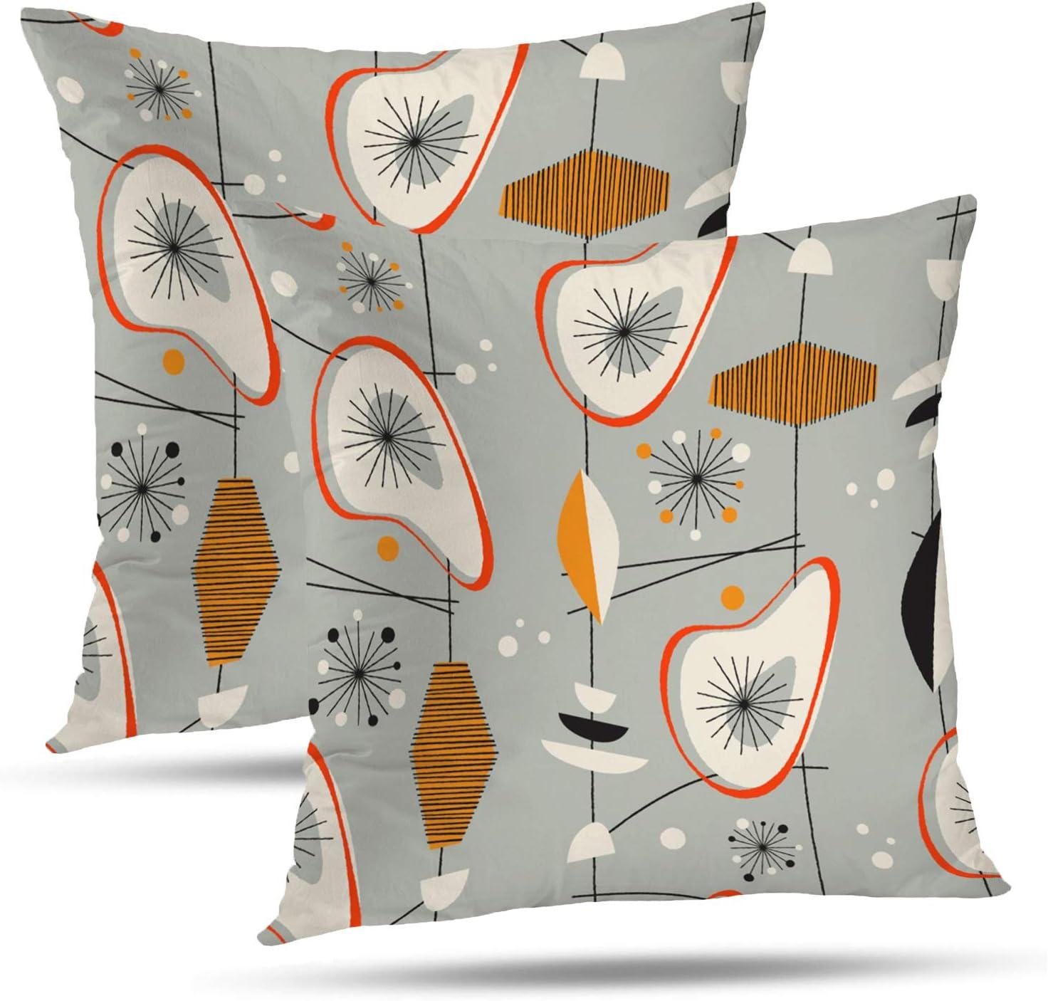Retro Design 18/'/' Cushion Cover Pillow Case Pink Flower Blue Cupcake Home Decor
