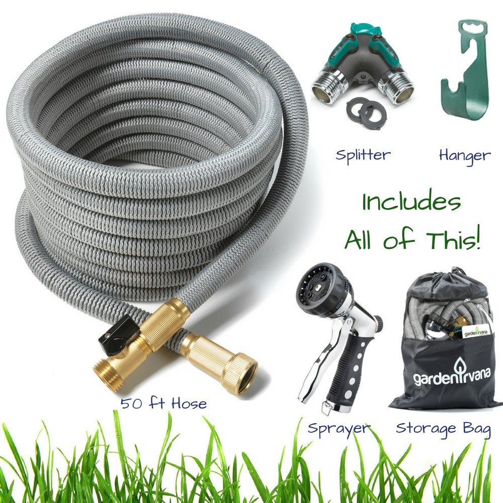50 ft Expandable Garden Hose 5 piece BUNDLE