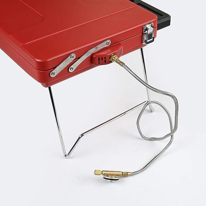 Barbacoa de mesa portátil Mayer Barbecue Zunda, barbacoa de gas de camping MGG-310 Basic