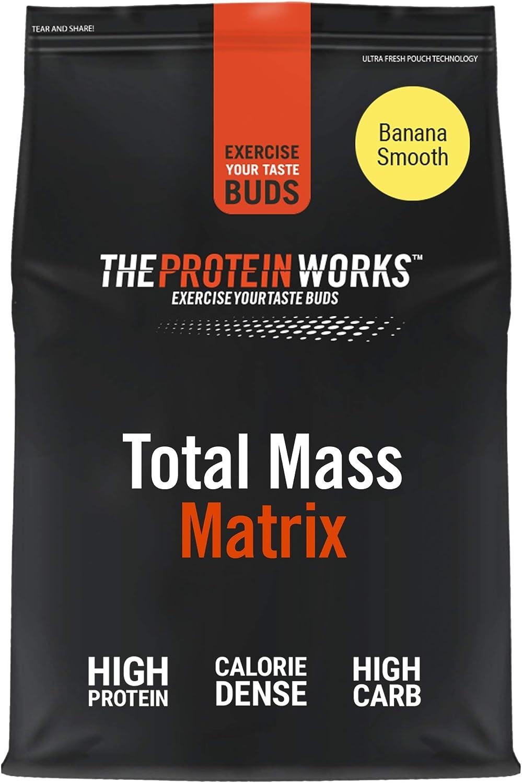THE PROTEIN WORKS, Total Mass Matrix Gainer de Masa, Plátano suave, 2 kg